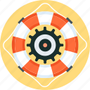 buoy, gear, insurance, life, secure, support