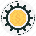 budget, cog, gear, money, money management icon