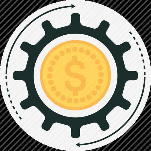 budget, cog, gear, money, money management icon