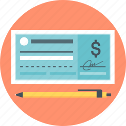 cheque, money, payment icon