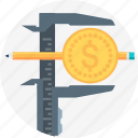budget, caliper, expense, income, measure, money, screen