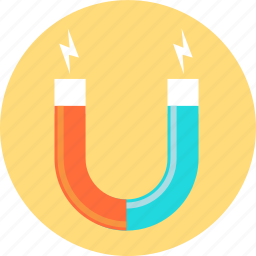 customer magnet, magnifier icon