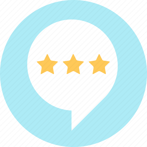 rate, review, speech bubble icon