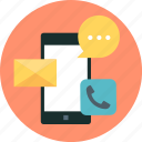 callmessage, mobile, phone, call, chat, mail, email