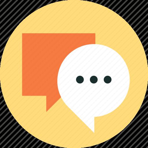 bubble, chat, discussion, speech, talk icon