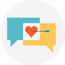 answers, chat, heart, love, questions, speech bubble, valentines day icon
