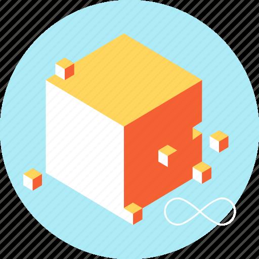 big, cloud, data, file, networking, square icon