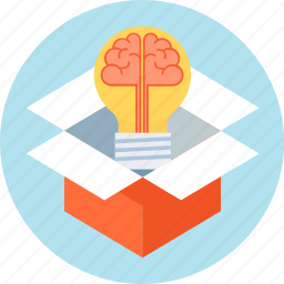 brain, ide, idea, solution, thinking out of the box icon