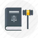 attorney, court, decision, judge, law icon