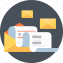 statistics, receive, learn, mail, report, news, newsletter icon