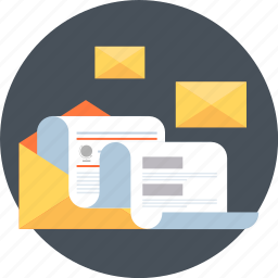 learn, mail, news, newsletter, receive, report, statistics icon