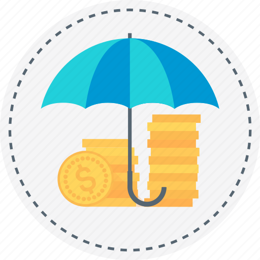 coin, earn, insurance, money, protect, secure, umbrella icon
