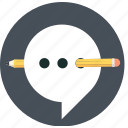 baloon, chat, edit, speech, talk icon