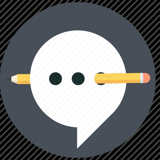 baloon, chat, edit, speech, talk icon