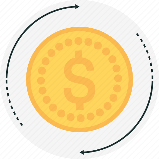 coin, earning, gold, money, solar icon