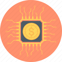 cpu, hardware, internet, money, processor icon