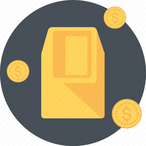 bank, earnings, gold, investment, money icon