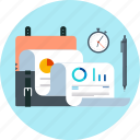 accounting, business, deadline, portfolio, statistics, suitcase icon