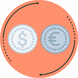 coin, convert, currency, money, type icon