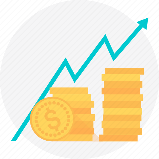 coin, earning, earnings, gold, money, statistics, stock icon