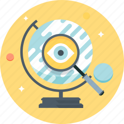 engine, eye, globe, magnifier, search, search engine, search engine optimization icon