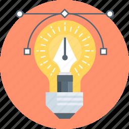 creativity, design, graphics design, idea, pen icon