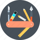 branding, design, graphics, knife, multi, pen, tools