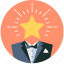 premium, service, star, vip, waiter icon