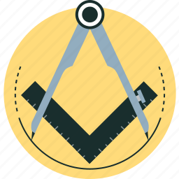 compass, compasses, design, precision, ruler icon