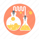 experiment, gold, money, research, test tubes icon
