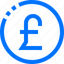 business, coin, finance, money, pounds icon