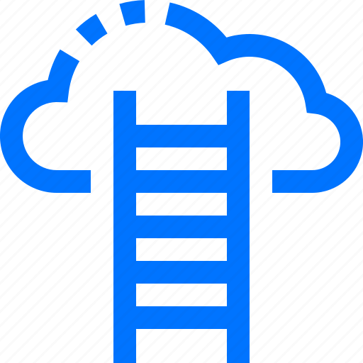 business, cloud, finance, goal, ladder, successful, target icon