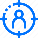 business, client, finance, human, lock, mission, target icon