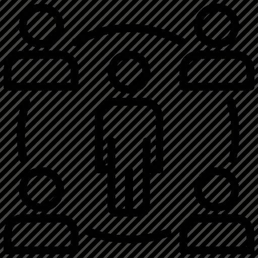 employee force, engaged workforce, human resources, organizational staff, workforce organization icon