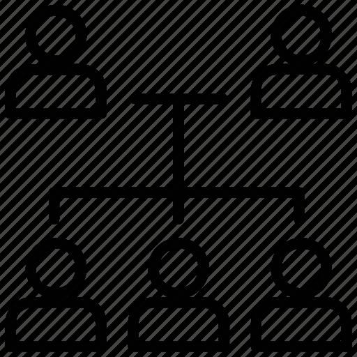 business leadership, business team, entrepreneur, team hierarchy, workforce icon