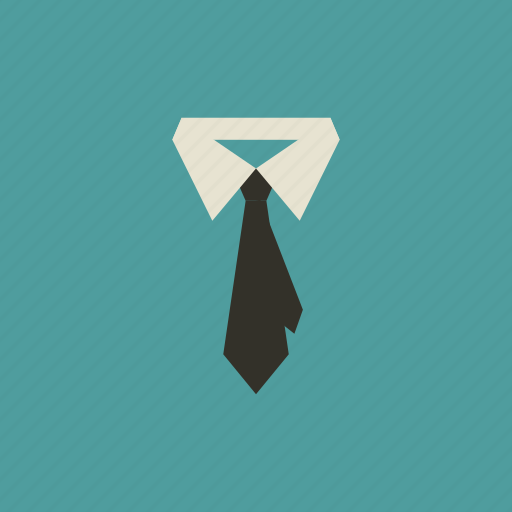 business, clothes, collar, dress, necktie, tie, wear icon