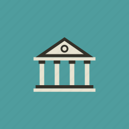 bank, building, business, deposit, economy, finance, investment icon