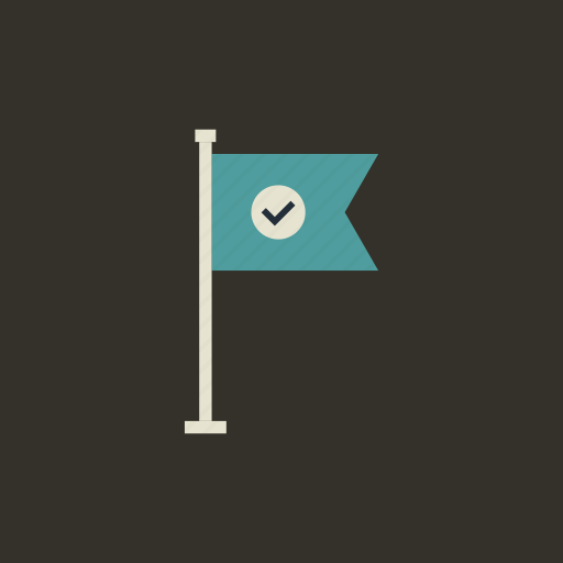 achievement, flag, goal, location, marketing, mission, success icon