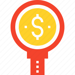 analysis, analytics, magnifier, market, money, research, search icon
