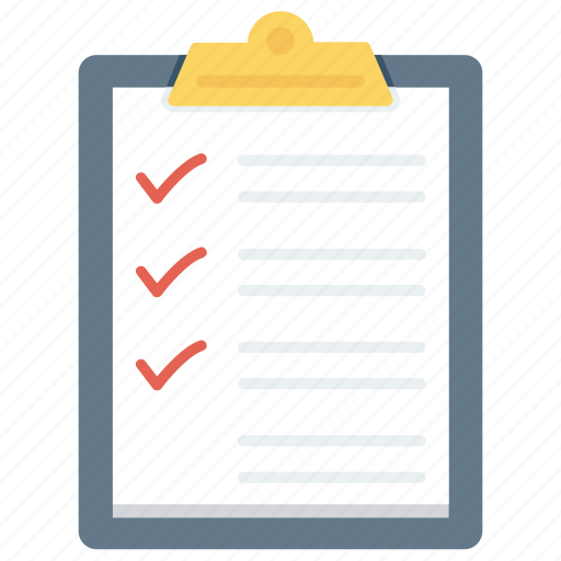 checklist, checkmark, clipboard, list, questionnaire, survey, tracklist icon icon
