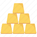 bullion, gold, ingot, investment icon icon