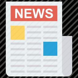 news, newsletter, newspaper, press icon icon