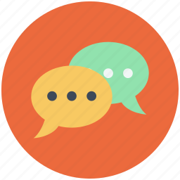 bubbles, chat, chat bubbles, chatting, comment, conversation, messages icon icon