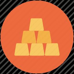 bullion, gold, ingot, investment icon icon