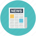 news, newsletter, newspaper, press icon icon