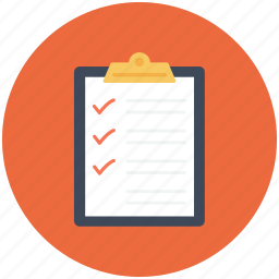 checklist, checkmark, clipboard, list, questionnaire, survey, tracklist icon icon
