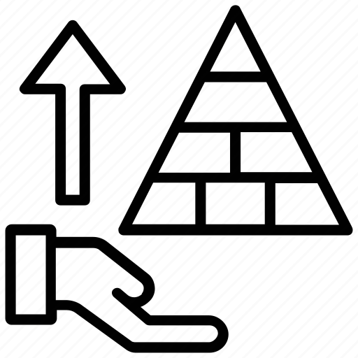 business chart, pyramid chart, pyramid graph, triangle pattern, trigon icon