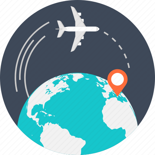 Airplane Business Global International Location Travel World Icon