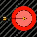 arrow, dart, focus, target icon
