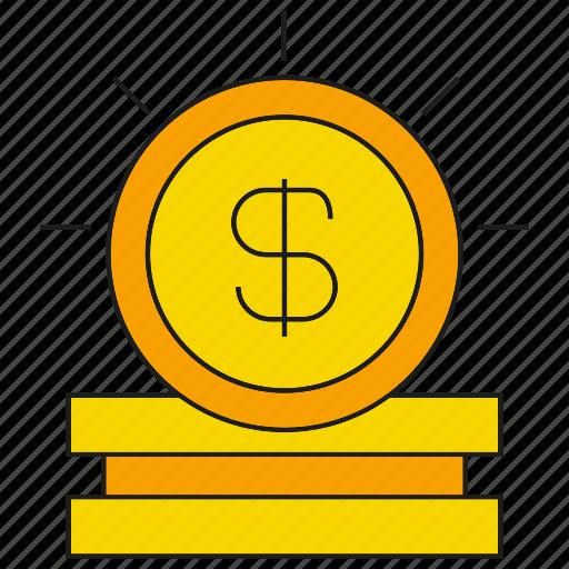 coin, dollar, fund, money, wealth icon